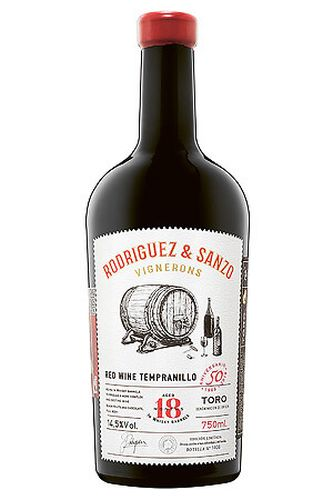 Tempranillo aged 18 months in Whisky barrels Toro DO 2018 0,75 l - Rodríguez Sanzo